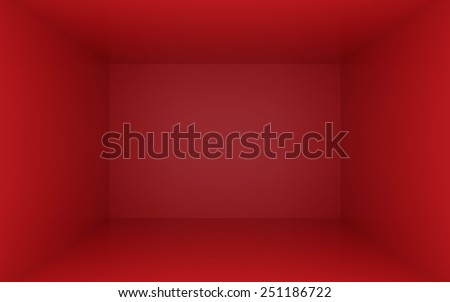 Red box with dark edges inside - stock photo