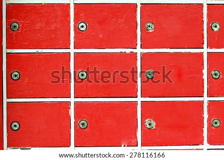 Red boxes texture background with key - stock photo