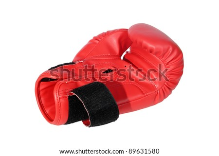 red boxing-gloves on the white background. (isolated)