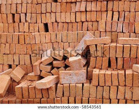 Red brick (10) - stock photo