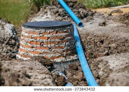 Septic tank stock images royalty free images vectors for Build a septic tank