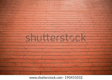 Red brick floor background.  - stock photo