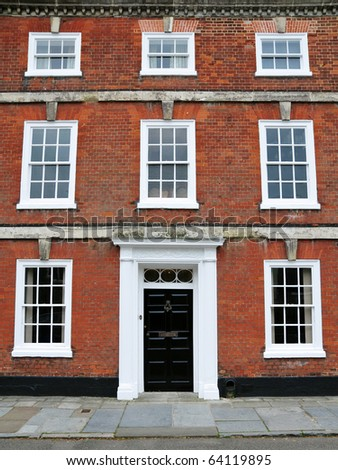 Red Brick Town House - stock photo