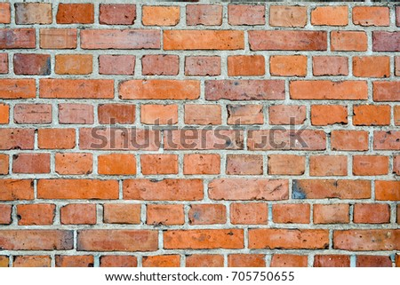 Red Brick Wall Background Or Texture With High Resolution Top View Copy