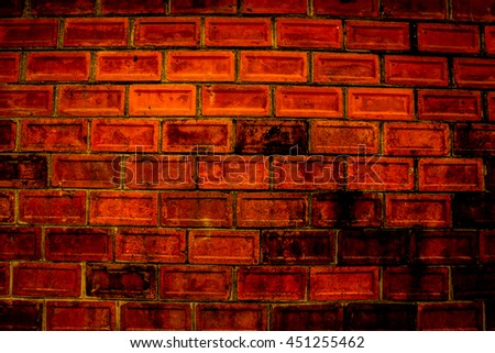 Red brick wall  background,texture