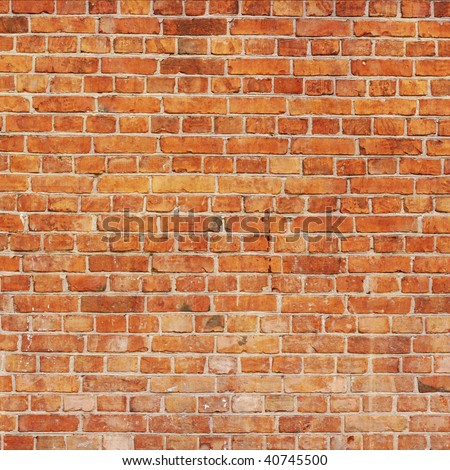 Red brick wall: can be used as background - stock photo