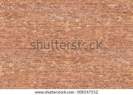 red brick wall texture background seamless pattern - stock photo