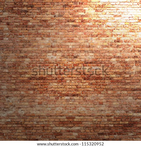 red brick wall texture background beam stock illustration 115320952