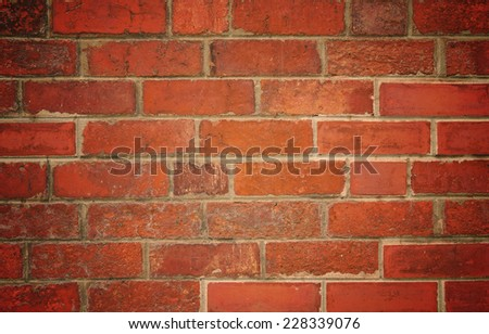 Red brick wall texture for background. - stock photo