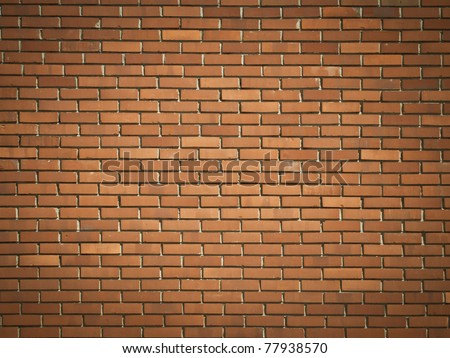 Red brick wall texture or background - stock photo