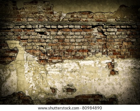 Red brick wall texture or background