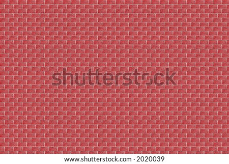 Red Brick wall with gray mortar in shades of red. - stock photo