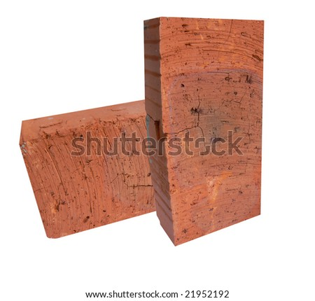 Red bricks for construction of house