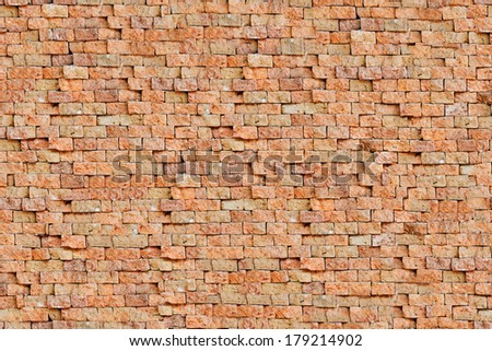 Red bricks seamless texture - stock photo