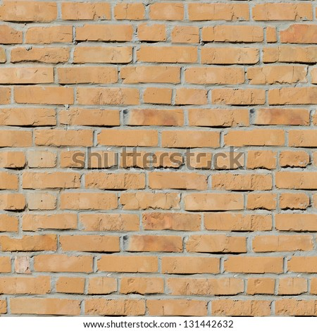 Red Bricks. Seamless Tileable Texture. - stock photo
