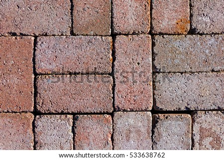 Red Bricks with Pattern of One, Two, Five
