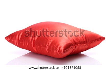 red bright pillow isolated on white