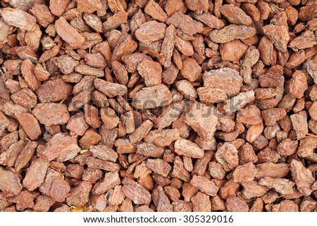 Red(brown) mulch texture  - stock photo