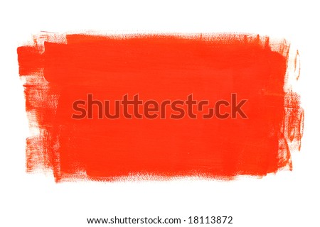 Red brush-painted surface - stock photo