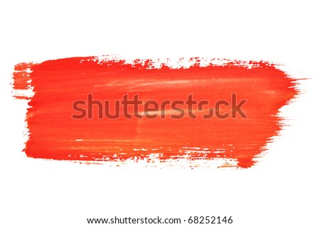 Red  brush strokes - stock photo