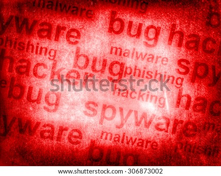 red bug, spyware backrgound texture - stock photo