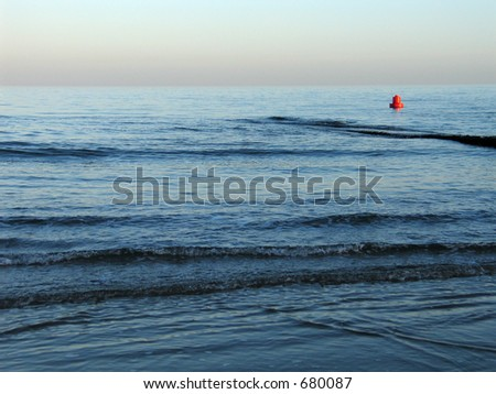 Red buoy - stock photo