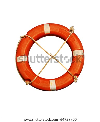 Red buoy isolated on a white background - stock photo