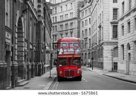 Red Bus - stock photo