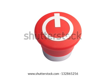 red button - stock photo