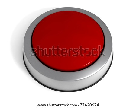 Red Button isolated at white background. - stock photo