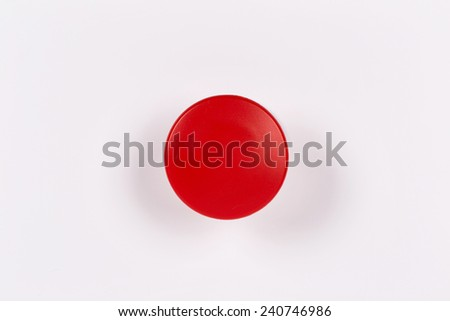 Red Button Isolated on White - stock photo