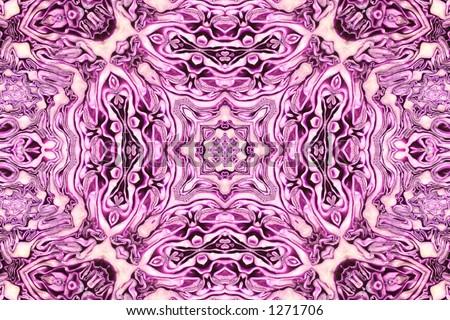 Red Cabbage Kaleidoscope - stock photo