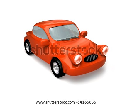 Red car. - stock photo