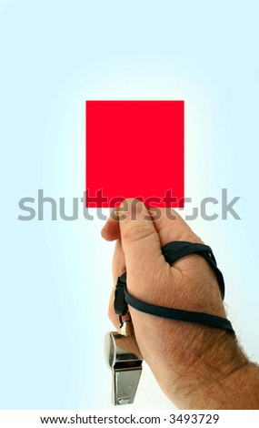 Red carded - stock photo