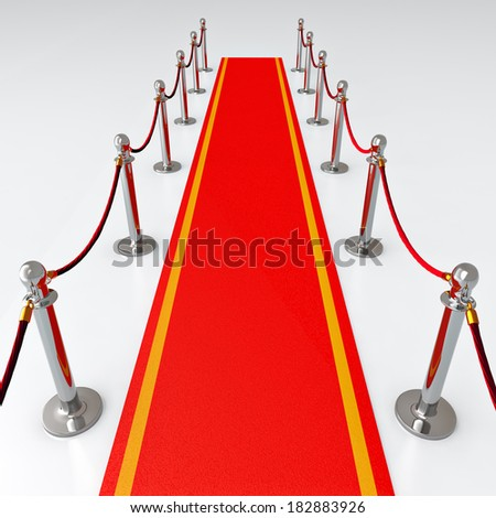 Red carpet - 3d illustration