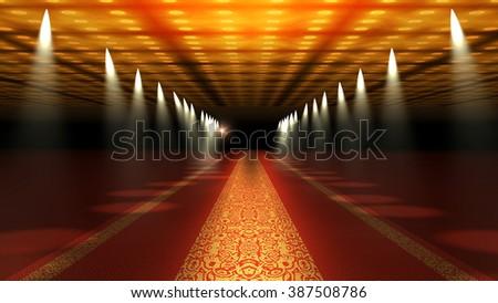 Red Carpet Festival Glamour Scene Illustration - stock photo