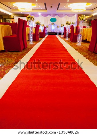 red carpet to the stage