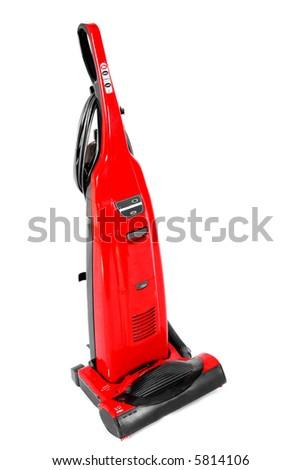 Red Carpet Vacuum Cleaner - stock photo