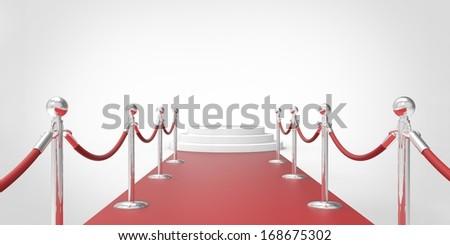 red carpet. vip - stock photo