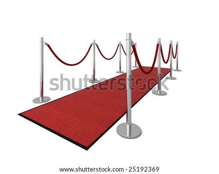 Red carpet vip illustration isolated on white. - stock photo