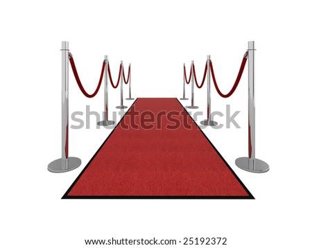Red carpet vip illustration isolated on white. - stock photo