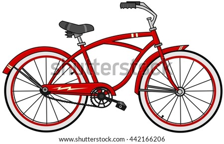 Red cartoon bicycle