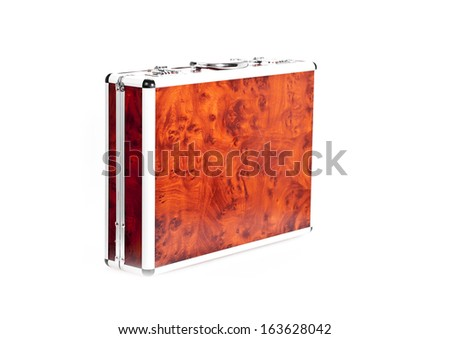 Red case on white background - stock photo