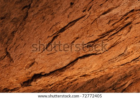 Red cave texture - stock photo
