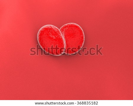 red cells - stock photo