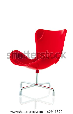 Red chair of the ceo isolated over white background - stock photo