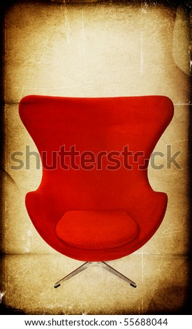 Red chair textured