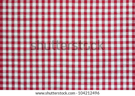 red checked tablecloth texture - stock photo
