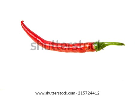 Red chili pepper isolated on a white background - stock photo