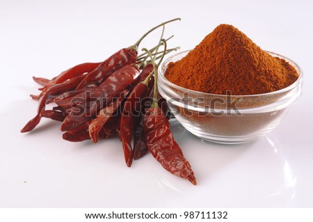 Red chilly pepper,dried chilies - stock photo